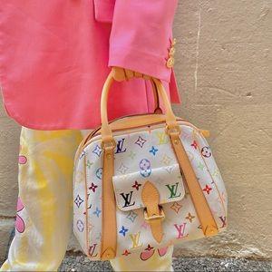 LOUIS VUITTON White Multicolore  Priscilla handbag